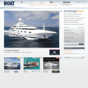 Boat International webite