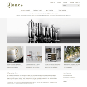 Jones Hire Website