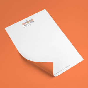 Papple Steading logo and corporate stationery