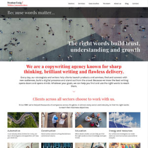 Stratton Craig - Homepage design